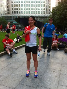 2012 CANARY WHARF RUN, JOG, WALK 10k, British Heart Foundation