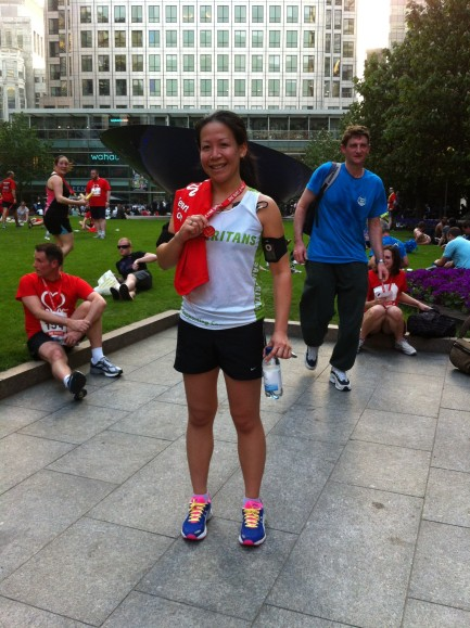 2012 CANARY WHARF RUN, JOG, WALK 10k, British Heart Foundation