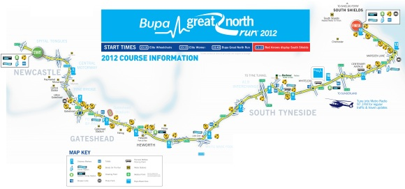 Bupa GNR 2012 Route Map