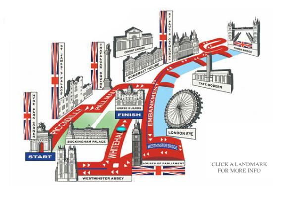British 10k London Run route 2012