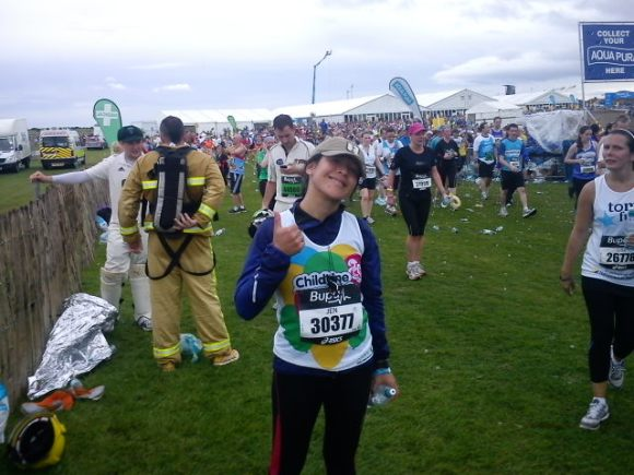 A limp-walking-broken-hip-ed Jen! 3rd Half Marathon - Dead chuffed completed!