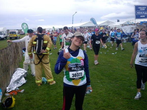 A limp-walking-broken-hip-ed Jen! 3rd Half Marathon - Dead chuffed completed!