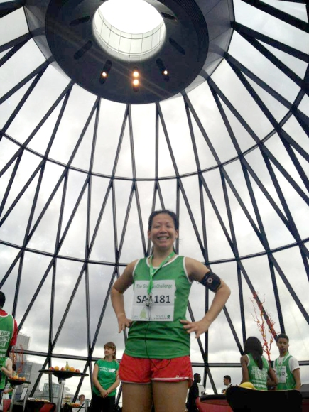 2013 GHERKIN VERTICAL CHALLENGE 1,037 STEPS 33 FLOORS UP TO TOP NSPCC